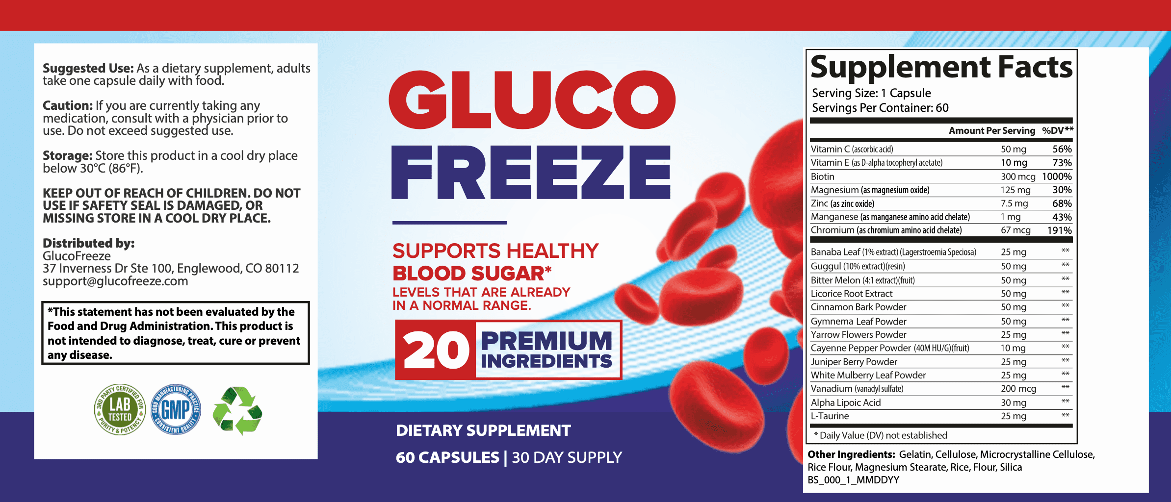 GlucoFreeze Side Effects