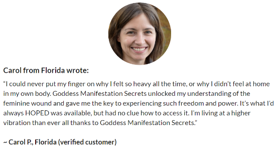 Goddess Manifestation Secrets Customer Reviews