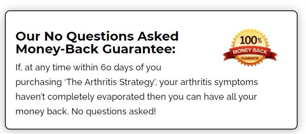 The Arthritis Strategy Money-Back Guarantee